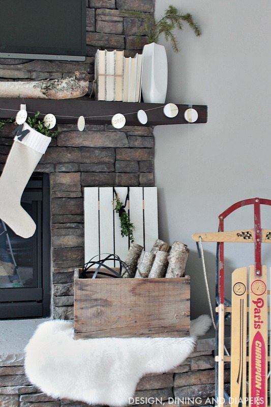 Nordic Christmas Mantel with Sled