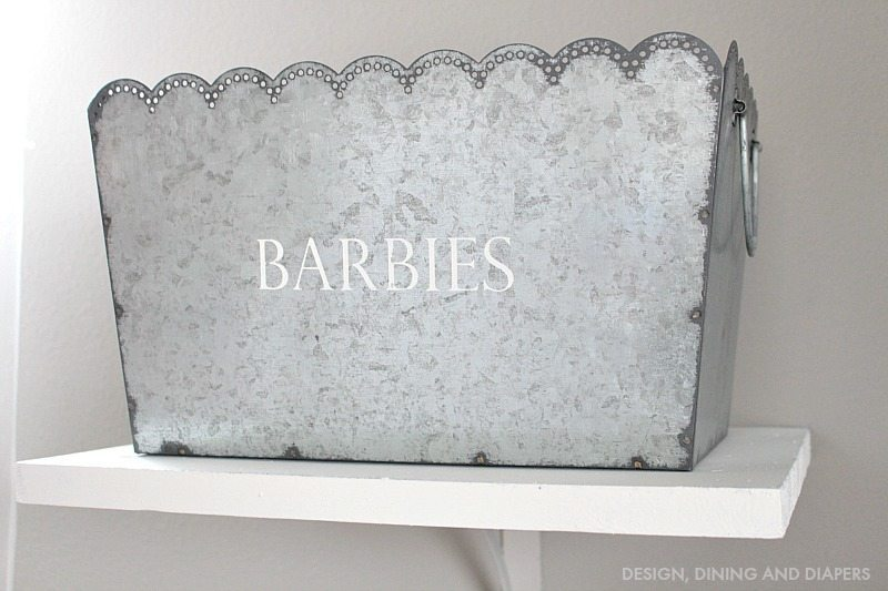 Scalloped Galvanized Bins