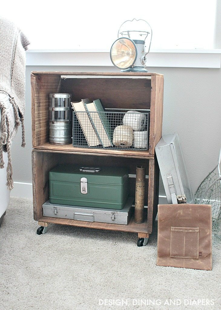 Trash to treasure apple crate bookcase taryn whiteaker for How to make apple crates