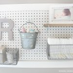 Pegboard Diaper Changing Station