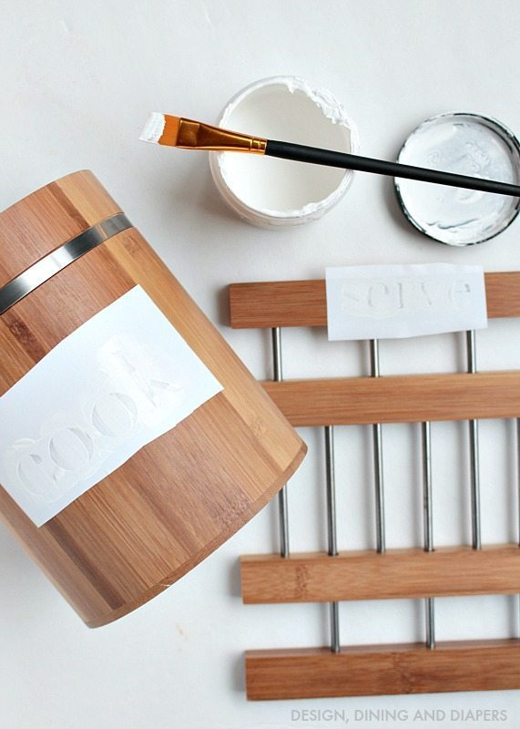 Painting Kitchen Organizers
