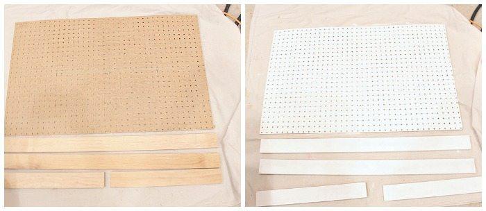Peg Board Diaper Station Supplies