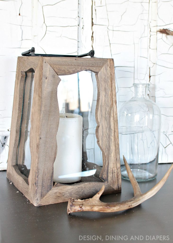 rustic lantern - winter decor