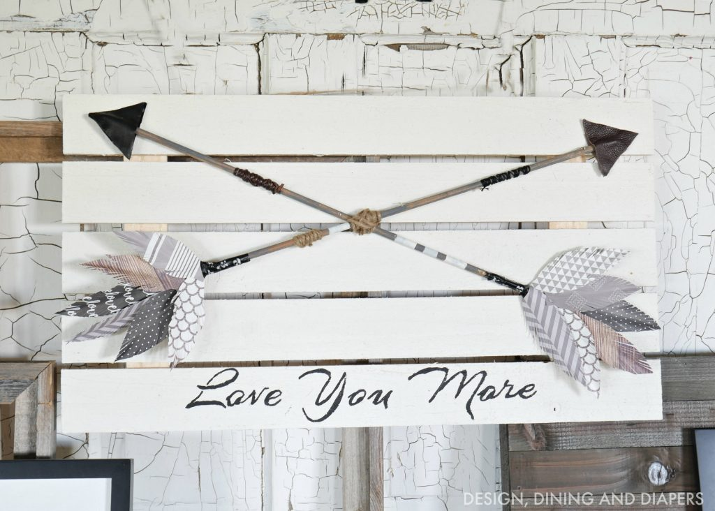 DIY Arrow Art with Paper Feahters