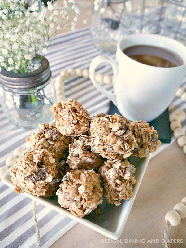 No bake peanut butter oatmeal breakfast bites