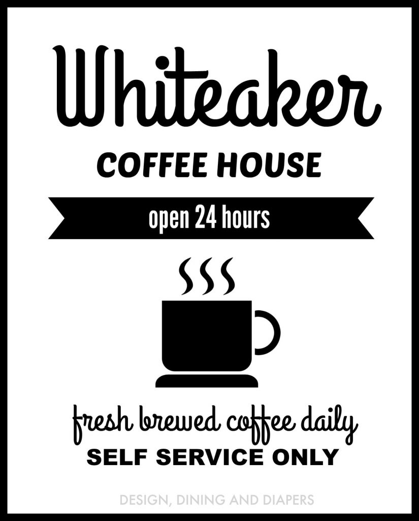 Personalized Coffee Sign with borderWM