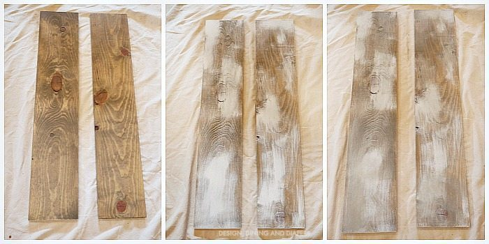 Steps to creating faux weathered wood