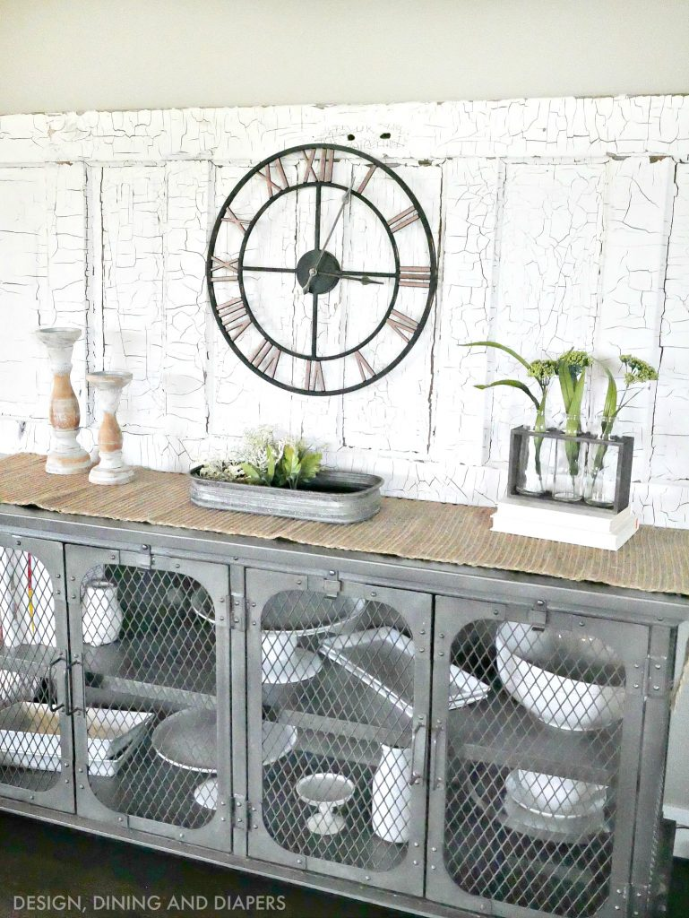 spring vignette with farmhouse style