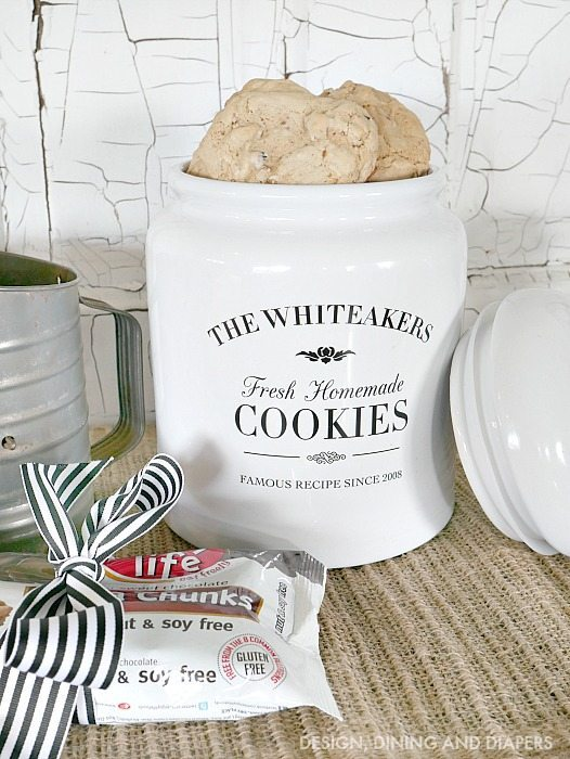 Bridal Shower Gift Idea - Personalized Cookie Jar