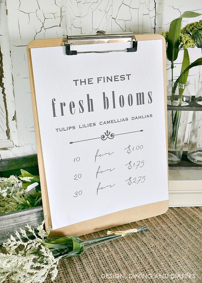 Free Spring Printable - Fresh Blooms Spring Printable