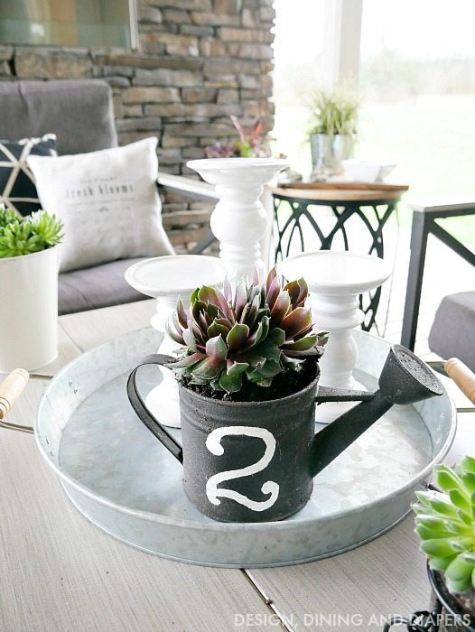 Outdoor Succulents with Farmhouse Style