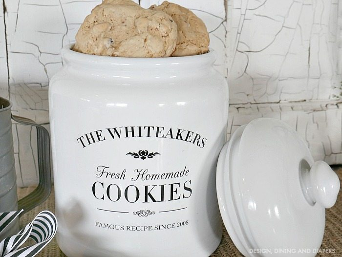 Personalized Cookie Jar for a friend