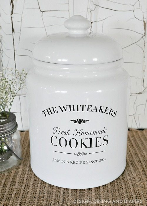 Personalized Cookie jar, fun gift idea!