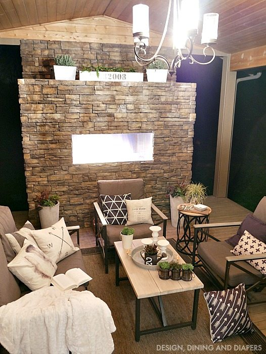 Spring Outdoor Living Space at Night