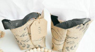 Gift Idea: DIY Grain Sack Gift Bags