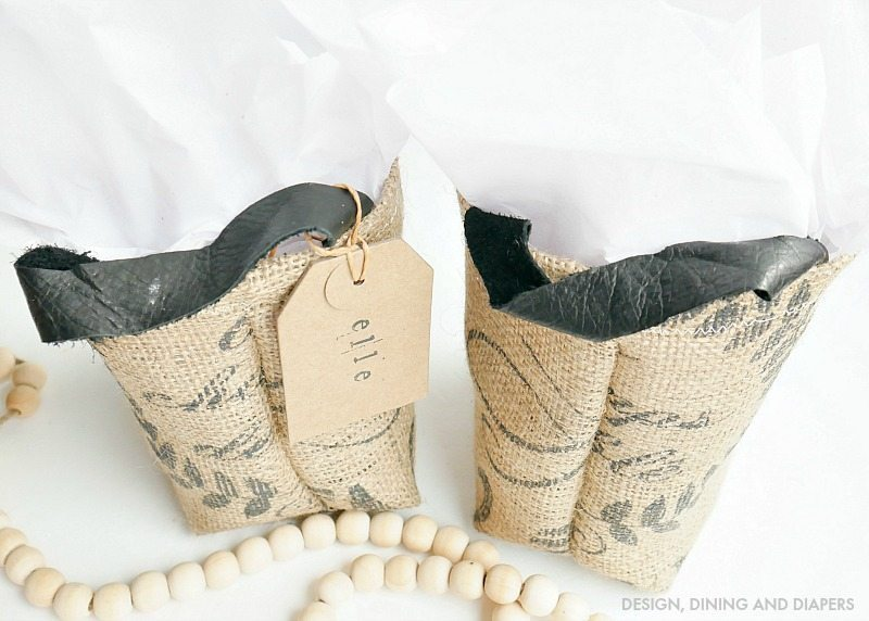 Coffee Sack Gift Bags - Fun way to personalize your gift wrap!