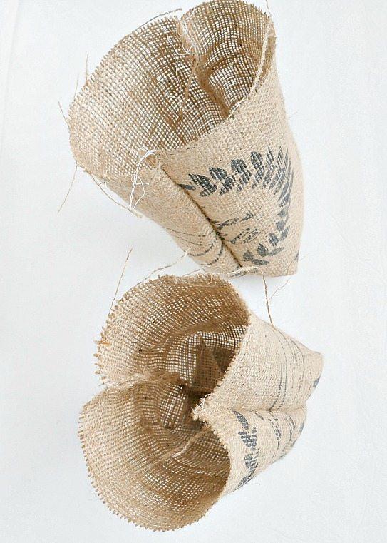DIY Grain Sack Gift Bags - Get the tutorial