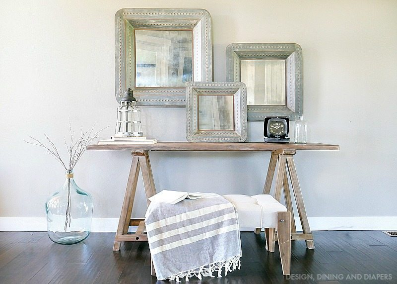 Rustic Modern Entry Way Table