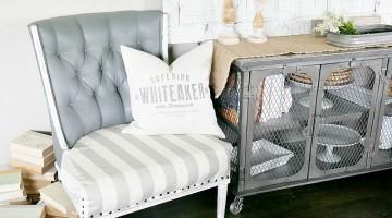 Trash To Treasure: Painting Upholstery