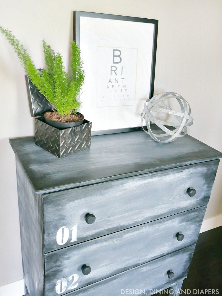 IKEA HACK - Painted Dresser to look like metal
