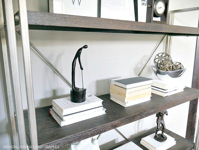 Masculine Office Shelves