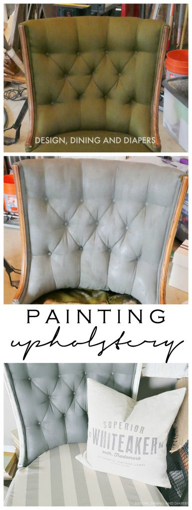 Painting Upholstery - Here's what I learned