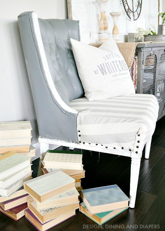 Painting an upholstered chair