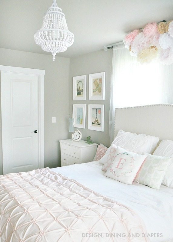 pink and white bedrooms whimsical s room reveal whiteaker 16697
