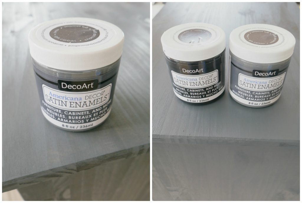 Tutorial DecoArt Satin Enamels Gray and Black Paint