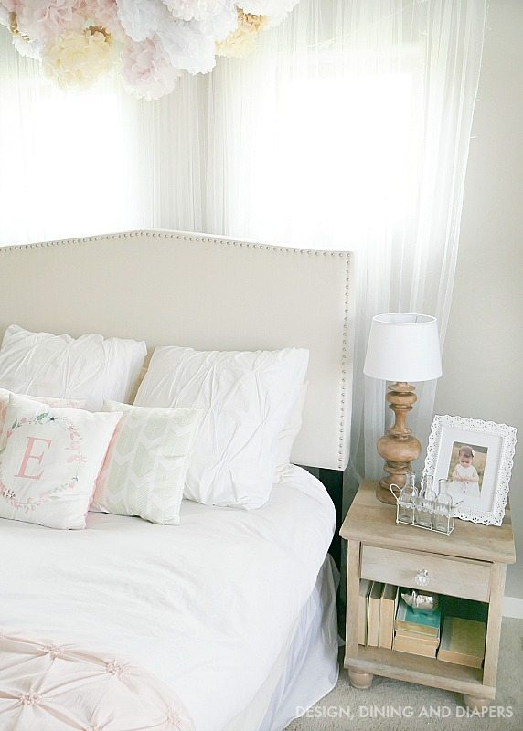 Whimsical Pink and white little girl's room