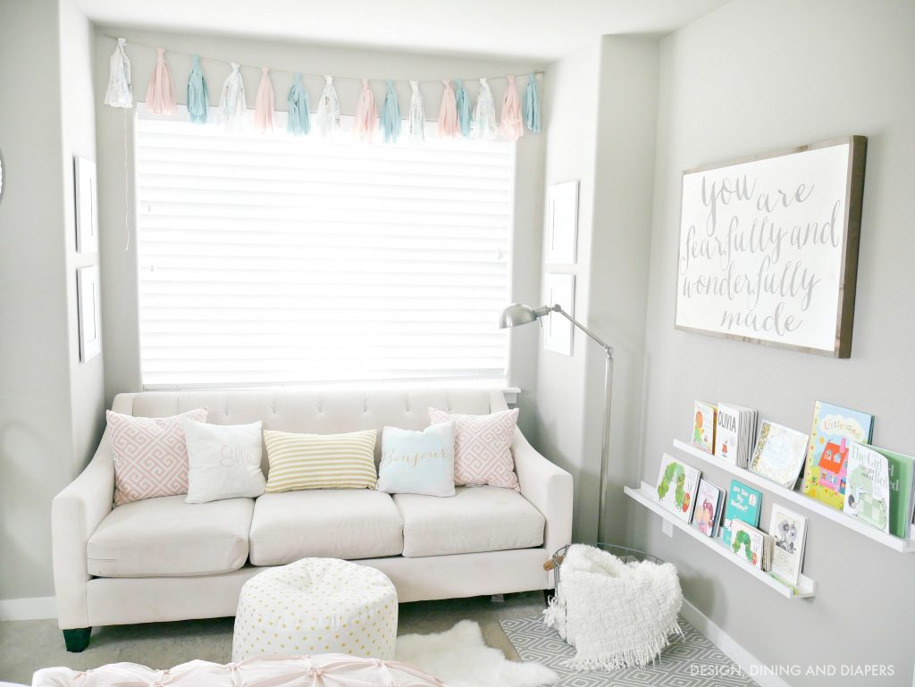 Whimsical little girl's room reading nook