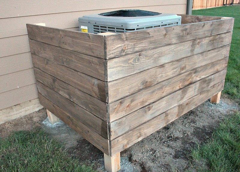 DIY AC Unit Cover - Installing Boards