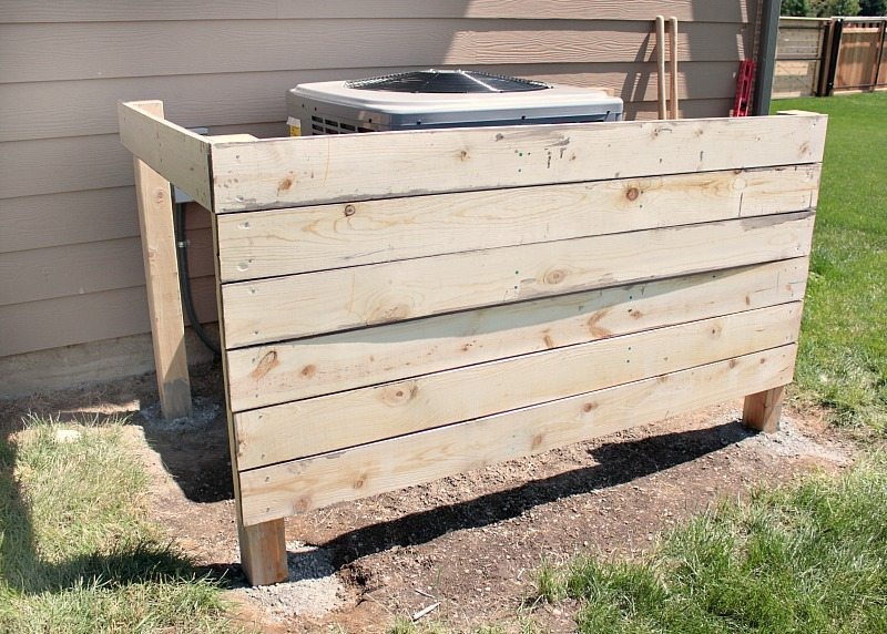 DIY AC Unit - Installing Fence Boards
