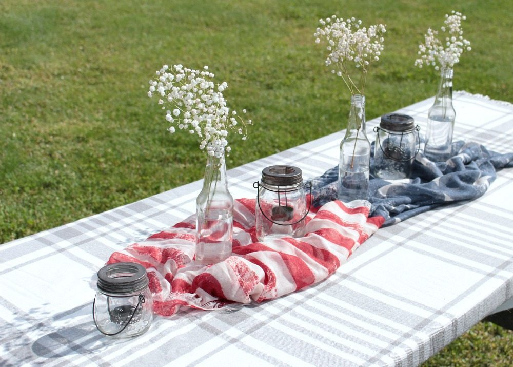 Patriotic Outdoor Tablescape 2