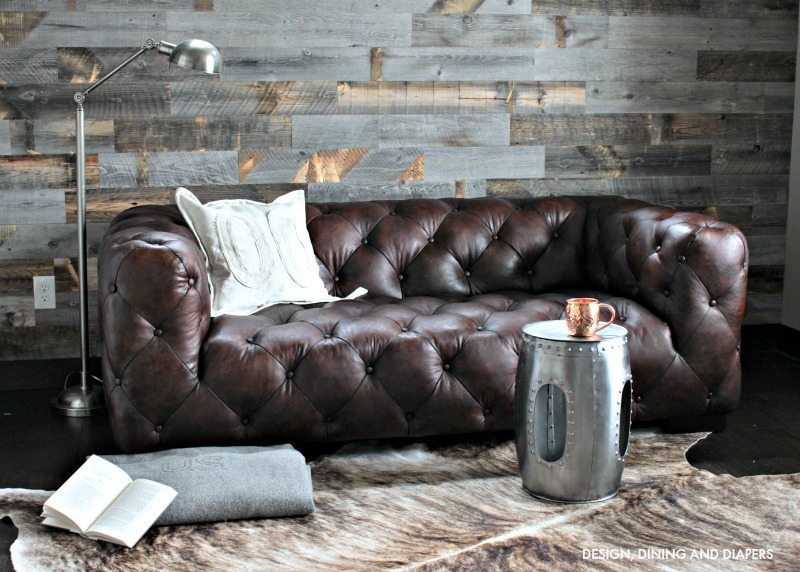 Rustic masculine space with Stikwood Wall