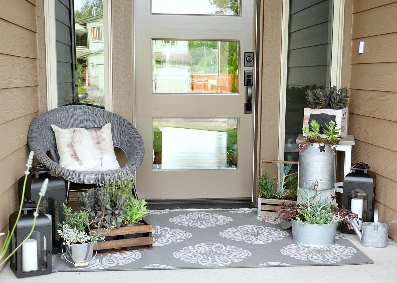 Summer Porch with lots of greenery