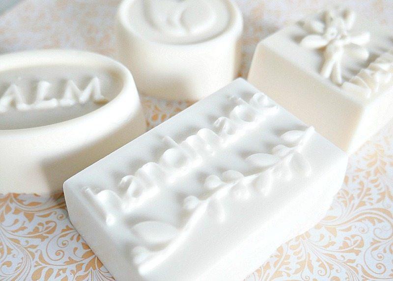handmade soaps using molds