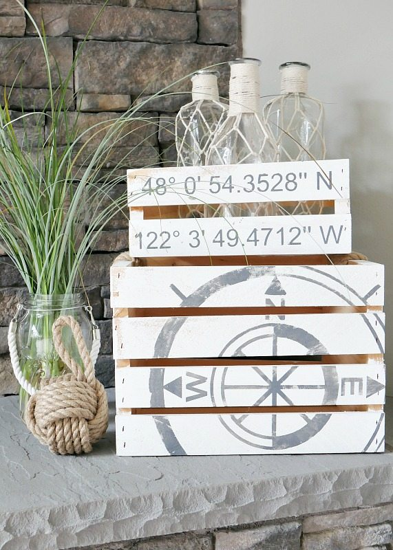 DIY Coastal Crates