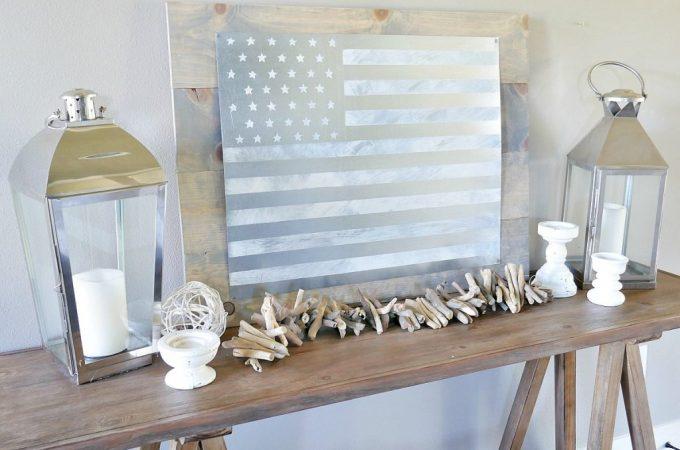 DIY Rustic American Flag Sign