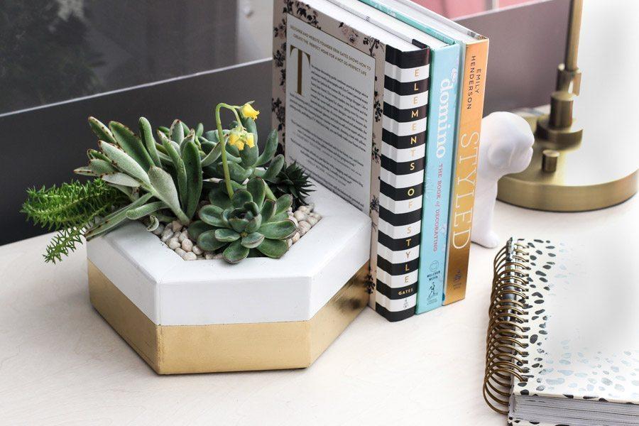 DIY-hexagon-planter