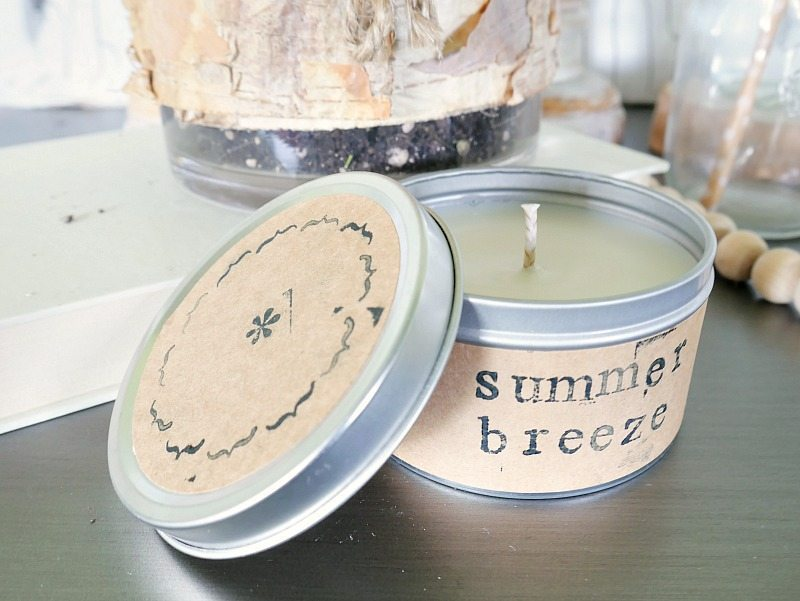 Homemade Summer Candles