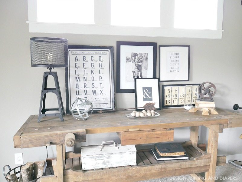 RUSTIC MODERN CONSOLE DISPLAY