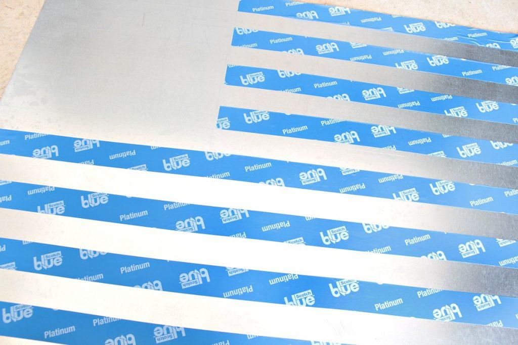 Remove Tape To Create Stripes
