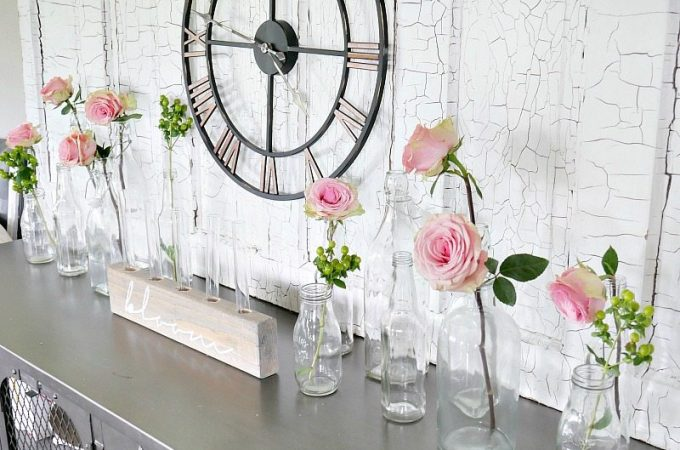 Summer Home Tour - Roses in Glass Jars