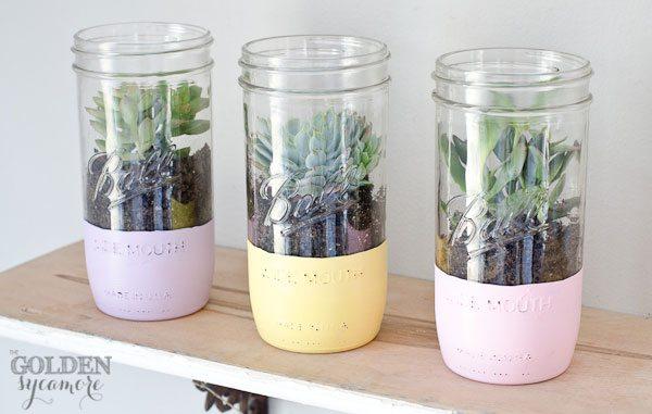 painted-mason-jar-succulent-planter-6