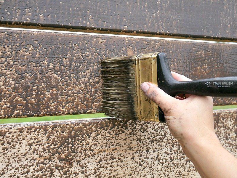 Brushing On Stain