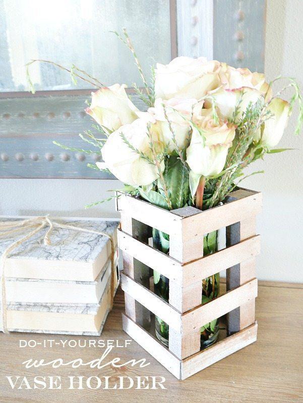 DIY wooden vase holder tutorial - super easy!