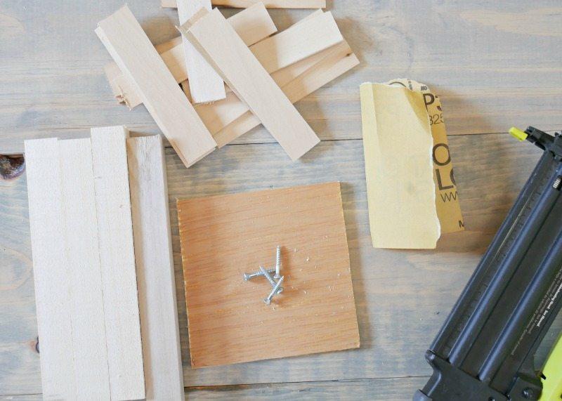 DIy Wooden Vase - Supplies