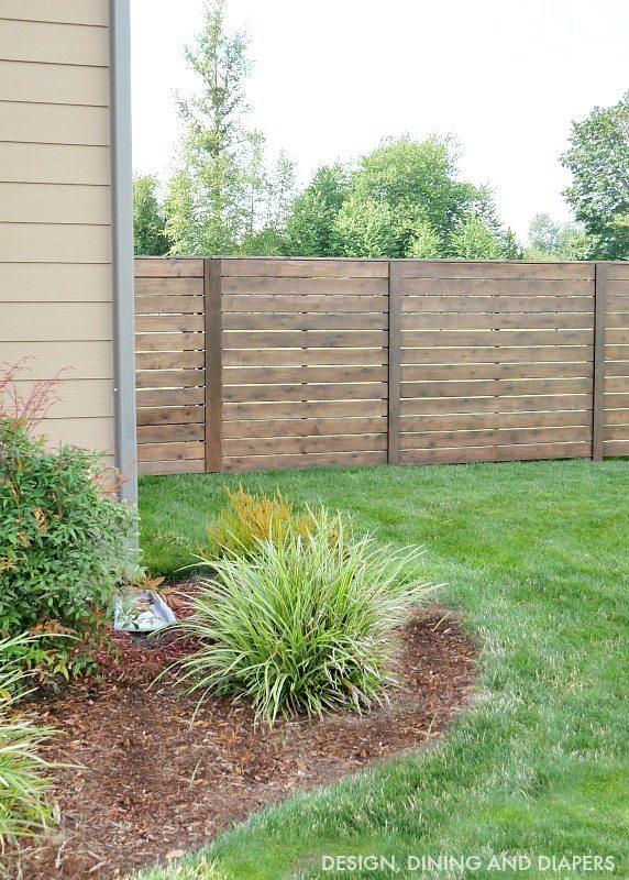 Horizontal Fence Design and Landscape