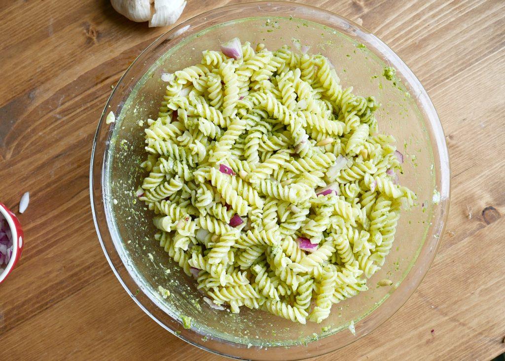 Pesto Pasta Salad - Tossed